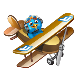 Fly, Plane, Twitter Icon