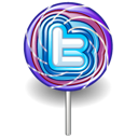 Candy, Lollipop, Twitter Icon