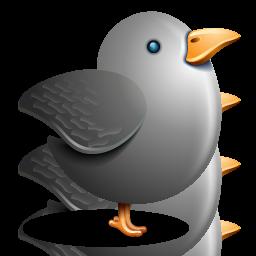 Bird, Gray, Grey, Twitter Icon