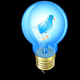 Bulb, Light, Twitter Icon