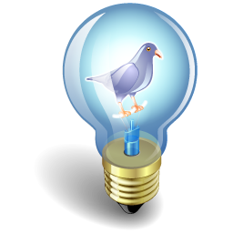 Bulb, Light, Twitter Icon