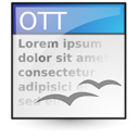 Application, Template, Vnd.Oasis.Opendocument.Text Icon