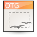 Application, Template, Vnd.Oasis.Opendocument.Graphics Icon
