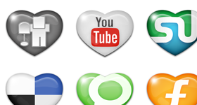 Sweet Social Media Icons