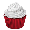 Cupcake, Red Icon