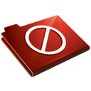Folder, Red, Restricted Icon