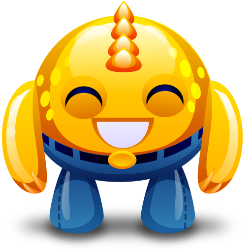 Happy, Monster, Yellow Icon