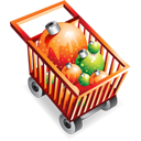 Christmas, Ecommerce, Full, Shoppingcart Icon