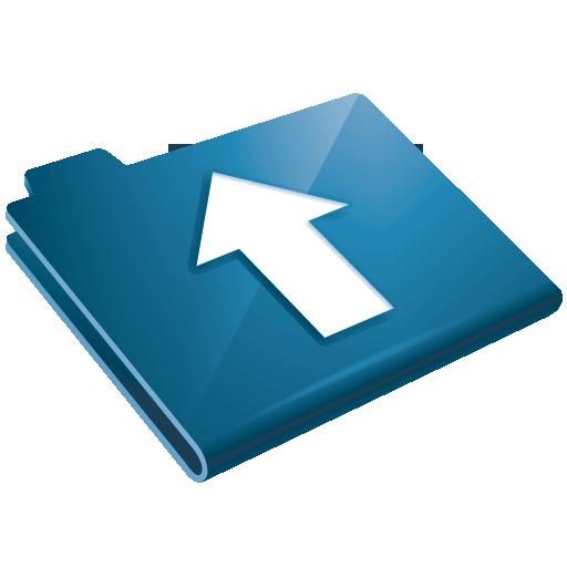 Arrow, Blue, Folder, Up, Upload Icon
