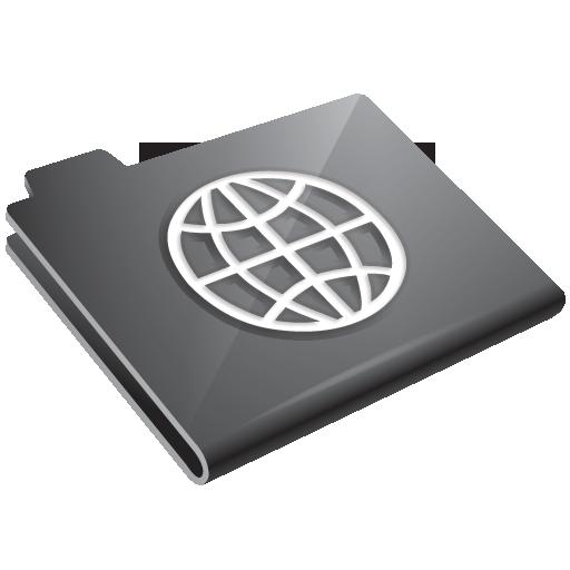 Folder, Grey, Network Icon