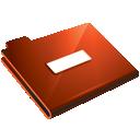 Folder, Minus, Red Icon