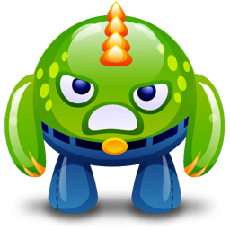 Green Happy Monster Icon Download Free Icons