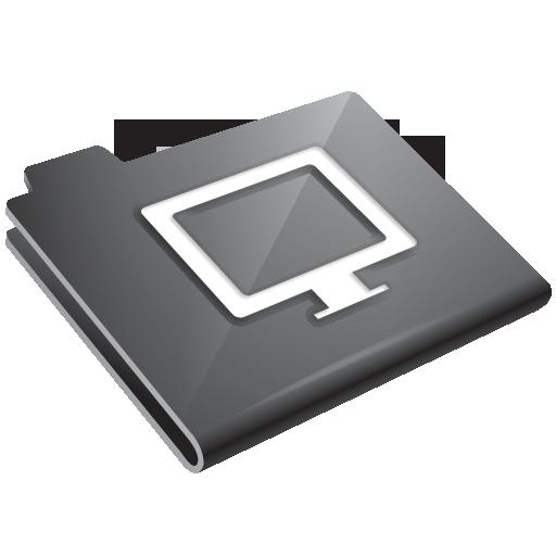 Grey, Monitor Icon