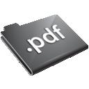 Folder, Grey, Pdf Icon