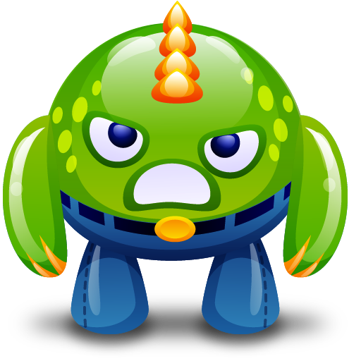 Angry, Green, Monster Icon