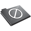 Folder, Grey, Restricted Icon
