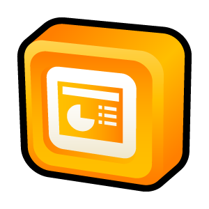 Microsoft, Office, Powerpoint Icon