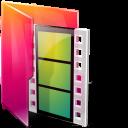 Aurora, Folders, Movies, Texto Icon