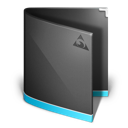 Antares, Black, Folder Icon