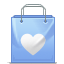 Bag, Heart, Love Icon