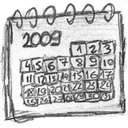 Calendar, Date, Handdrawn Icon