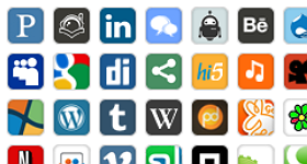 32 Pixel Social Media Icons