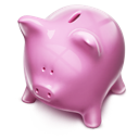 Money, Piggybank, Pink Icon