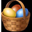 Basket, Easter, Eggs Icon