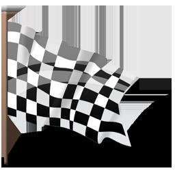 Checkered, Finish, Flag, Goal Icon