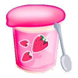Food, Strawberries, Yoghurt Icon