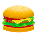 Burger, Fast, Food, Hamburger, Junk Icon