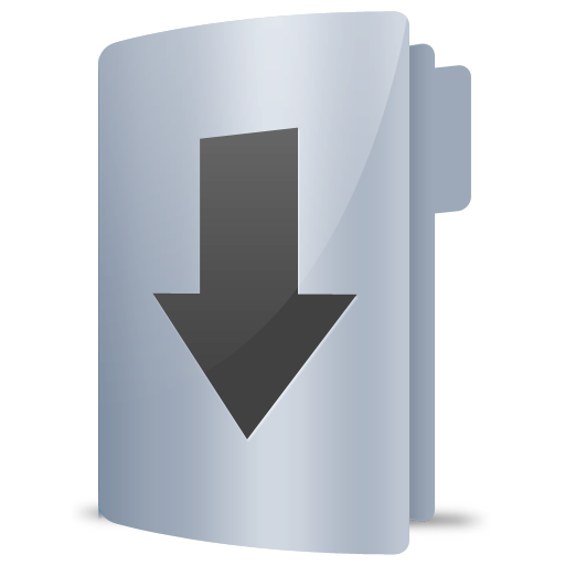 Arrow, Down, Downloads, Folder Icon