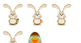Bunny and Easter Egg Icons