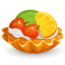 Cake, Food, Fruit Icon