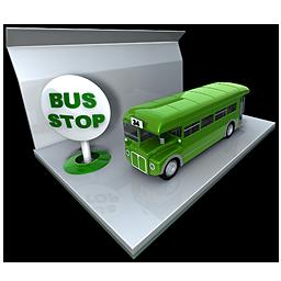 Bus, Public, Stop, Transportation Icon