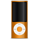Apple, Ipod, Orange Icon