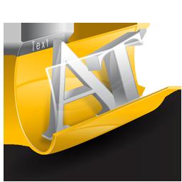 Folder, Text Icon