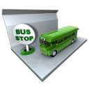Bus, Public, Stop, Transportation Icon