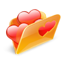 Folder, Hearts, Love Icon