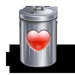 Bin, Heart, Love, Recyle Icon