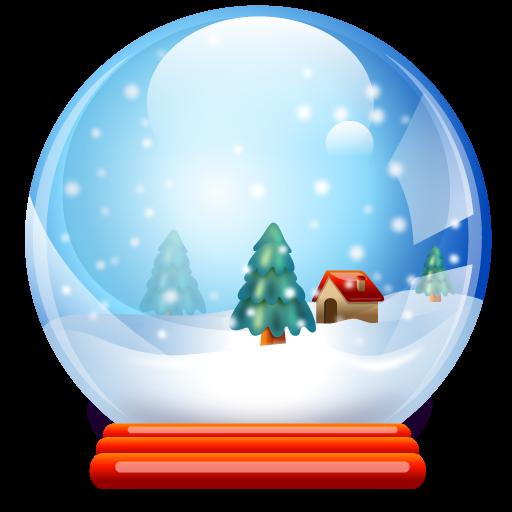 Ball, Christmas, Crystal Icon