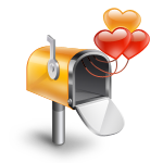 Box, Hearts, Mail Icon