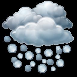 Hail, Hailing, Heavy, Shower Icon