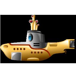 Submarine, Yellow Icon