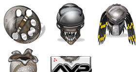Alien Vs Predators Icons