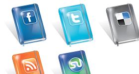 Free Social Moleskin Icons