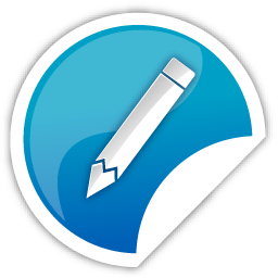 Blue Pencil Icon Download Free Icons