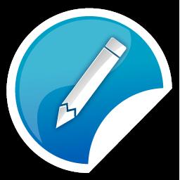 Blue, Pencil Icon