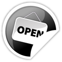 Black, Open Icon