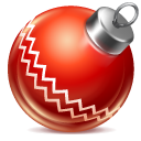 Ball, Christmas, Red Icon